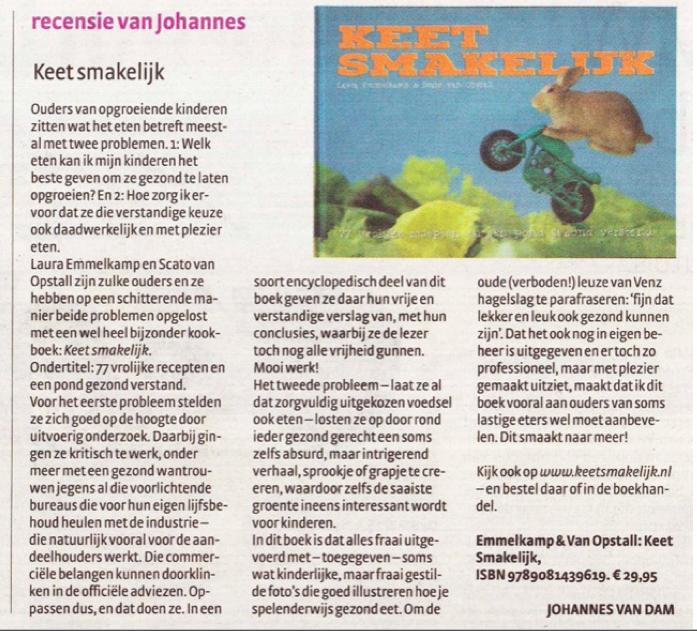 Johannes van Dam recensie Keet Smakelijk