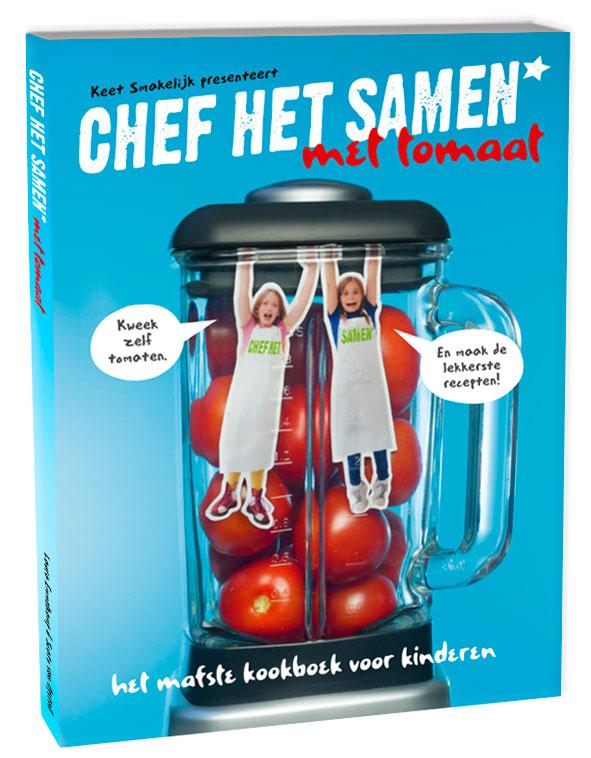 kinderkookboek chef het samen met tomaat