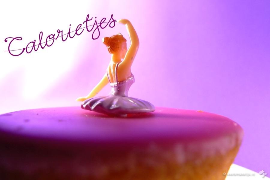 calorieën verbranden roze koek