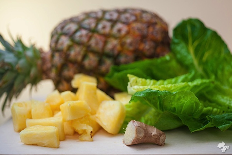 groene smoothie ananas mango
