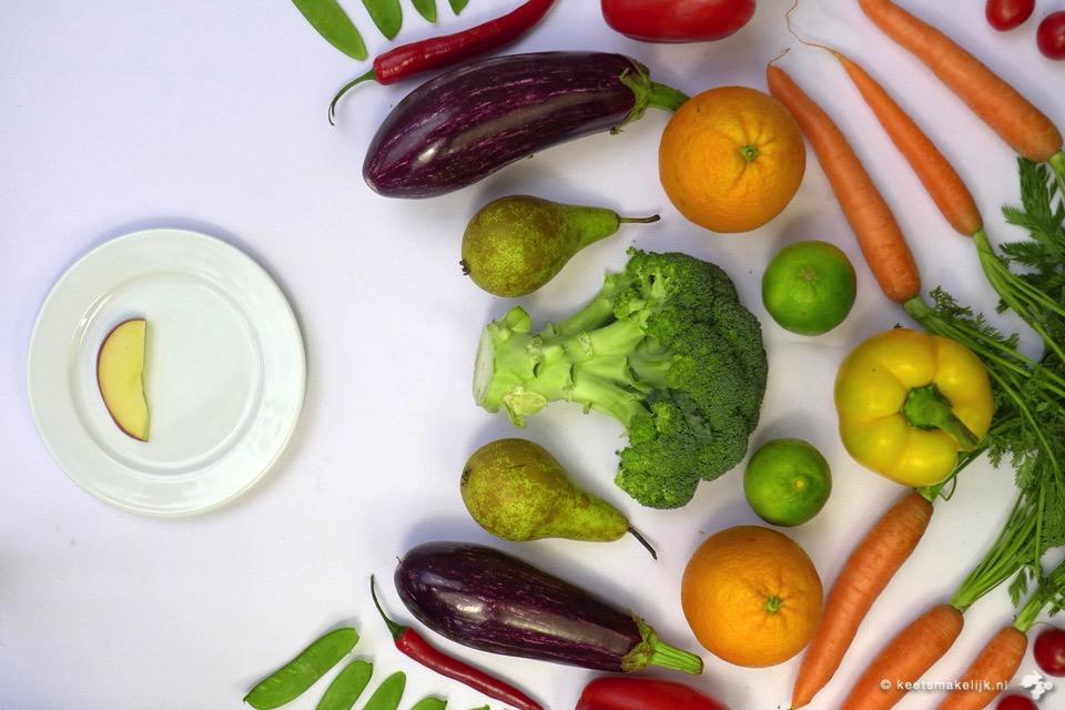 rotzooi eten, klanten kopen 25% meer groente en fruit na eten appel