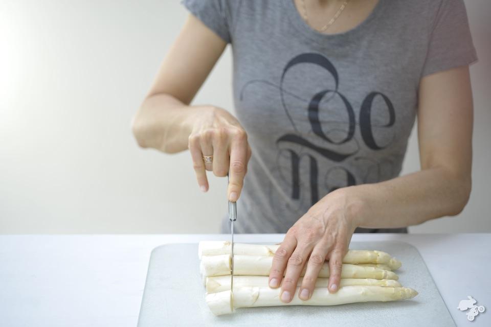 plaattaart met asperges