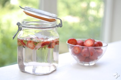 aardbeien fruitwater