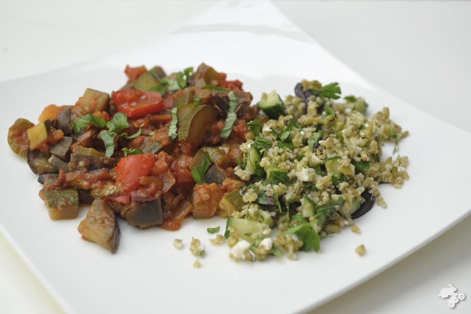 recept voor ratatouille met freekeh salade Keet Smakelijk