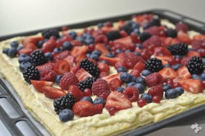 recept Bladerdeegtaart banketbakkersroom zomerfruit Keet Smakelijk