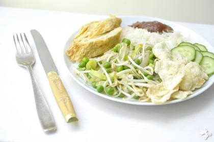 recept voor kindvriendelijke Nasi goreng