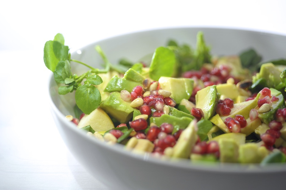 avocado appel salade