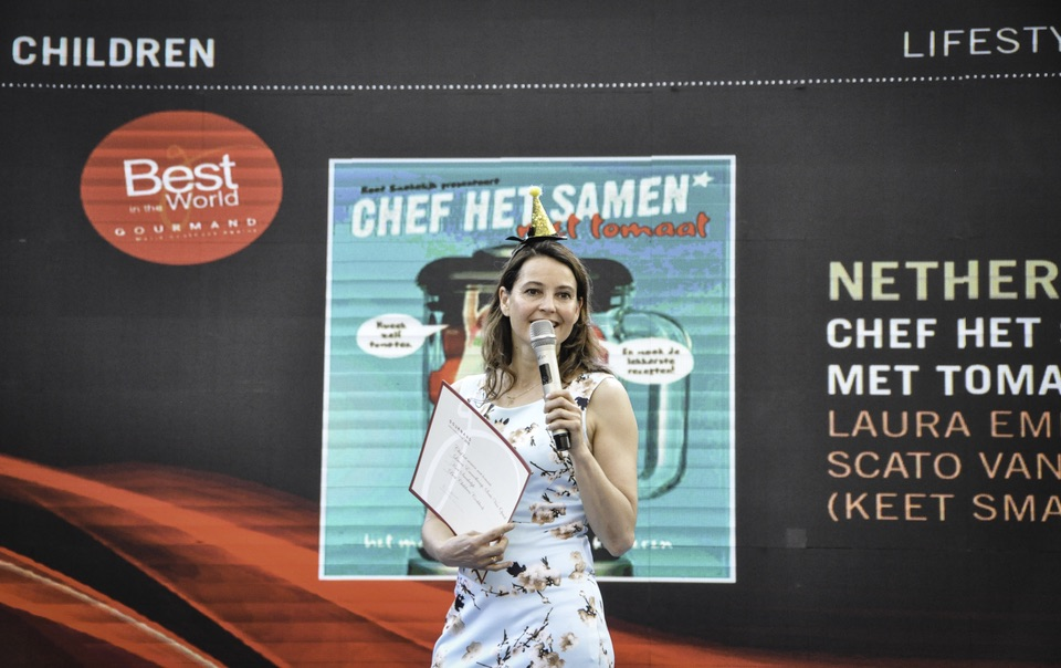 Laura Emmelkamp beste kinderkookboek van de wereld Gourmand World Kookboek Awards