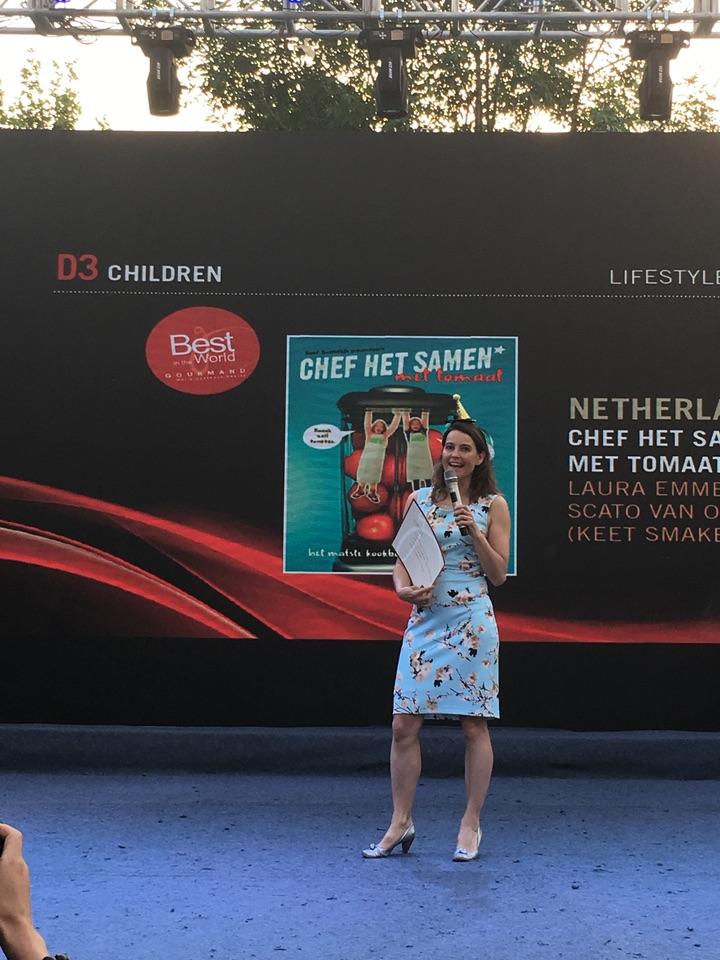 Laura Emmelkamp Gourmand Awards beste kinderkookboek van de wereld